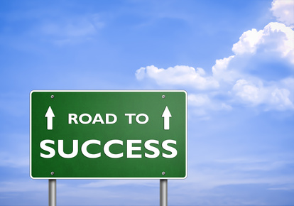 ROAD TO SUCCESS - road sign concept